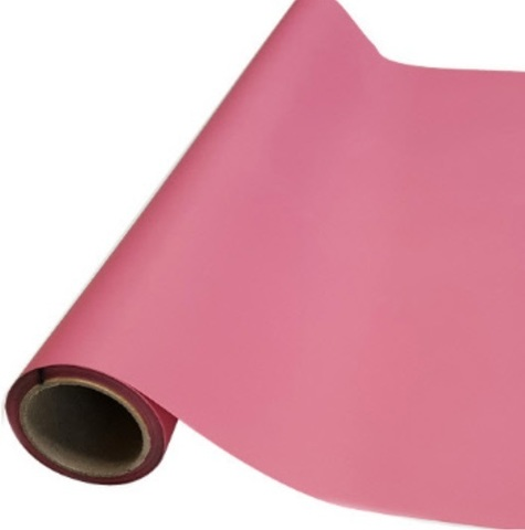Пленка матовая (размер:65см х 10м), цвет: темно-розовая