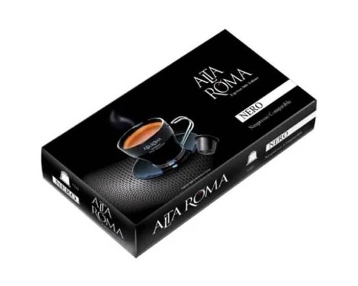 Кофе в капсулах Alta Roma Nero, 10 капсул для кофемашин Nespresso