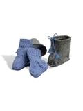 Сапожки-угги из фетра + носки - Голубой. Одежда для кукол, пупсов и мягких игрушек.