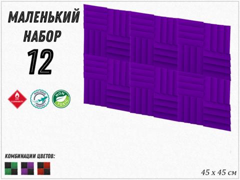 2,43м² акустический поролон ECHOTON AURA  450 violet 12  pcs