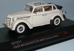 Moskvich-400-420A Cabrio beige 1949 IST031 IST Models 1:43
