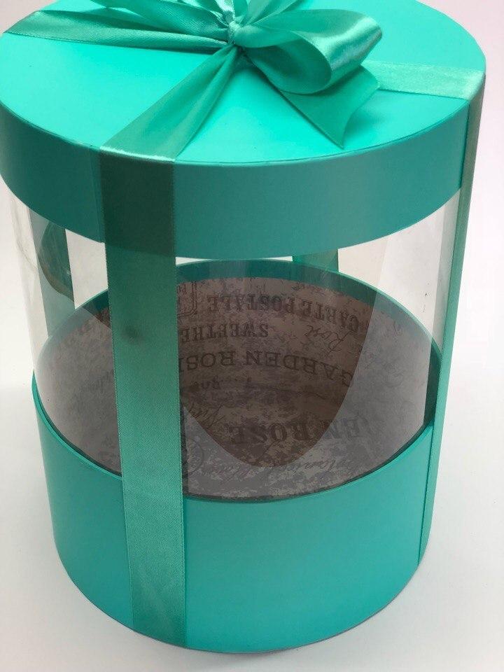 Коробка аквариум 18 см Цвет :Тиффани   . Розница 350 рублей .