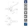 Смеситель локтевой медицинский с поворотным изливом AQUANOVA FLY H550702YCCB14MED - фото №2