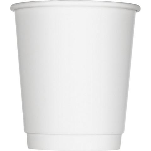 Стакан одноразовый Стандарт бумажный белый 250 мл 25 штук в упаковке