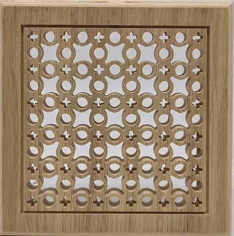Решетка декоративная деревянная на магнитах Пересвет К-02 150х150мм