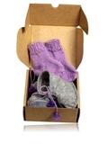 Сапожки-угги из фетра + носки - Упаковано. Одежда для кукол, пупсов и мягких игрушек.