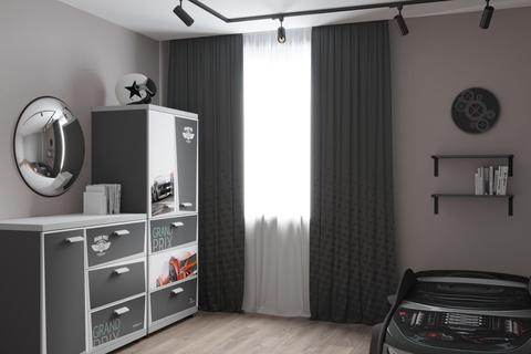 Комплект штор для детской комнаты Grafit