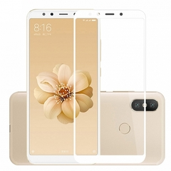 Защитное стекло 2.5D Xiaomi Mi A2 (Mi 6X) (Белое)