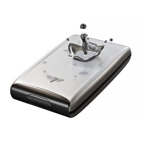Кошелек-органайзер c защитой Tru Virtu Ray, черный , 130x102x23 мм