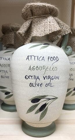 Оливковое масло Агурелио в зеленом кувшине Attiсa Food 500 мл