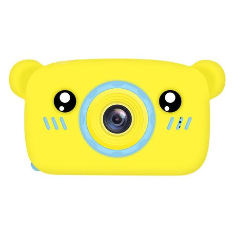 Фотоаппарат детский SmileZoom Мишка с селфи-камерой / Желтый