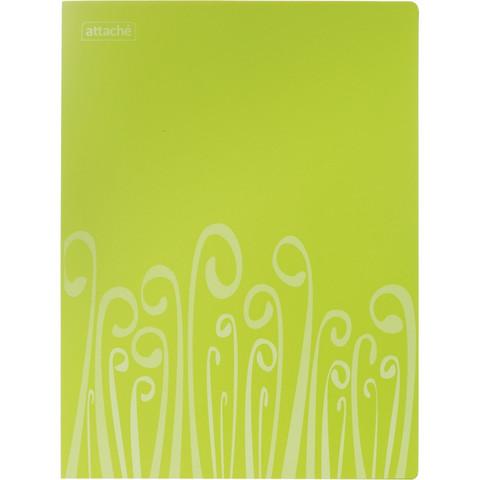 Папка с зажимом Attache Fantasy А4 0.5 мм салатовая (до 120 листов)