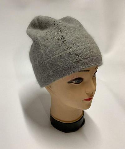 Женская шапка серая H9509-1A grey