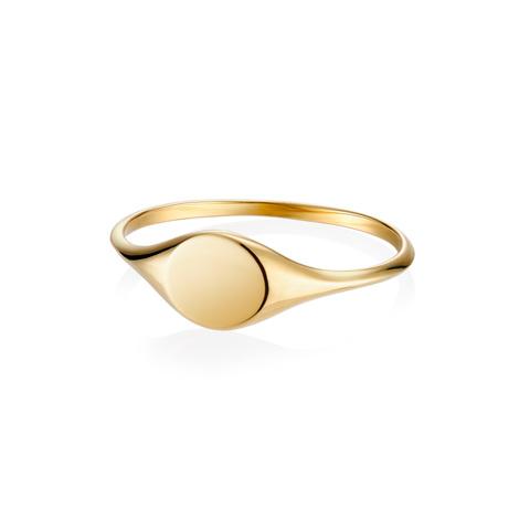 Кольцо-печатка CYCLE (лимонное золото)