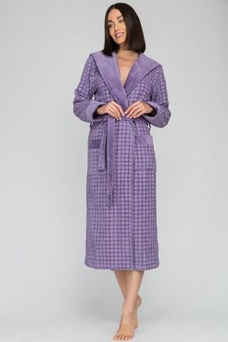 Махровый халат с капюшоном Ultra Doux (PM France 741) сирень