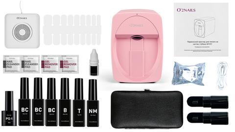 Принтер для ногтей O2Nails M1 Pink (розовый)