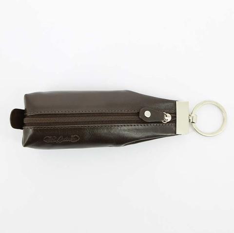 Ключница S.Quire, натуральная воловья кожа, коричневый, гладкая, 19x6,5 см