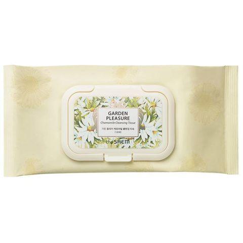 THE SAEM GARDEN P Салфетки очищающие GARDEN PLEASURE Chamomile Cleansing Tissue 100шт