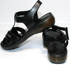 Босоножки черного цвета Evromoda 15 Black.