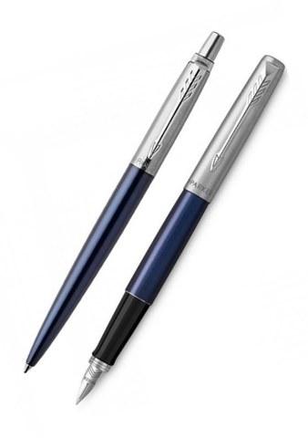 Подарочный набор: Перьевая и Шариковая ручки Parker Jotter Royal Blue CT123