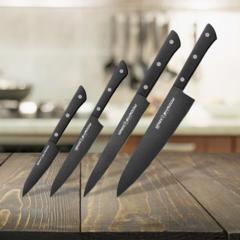 Набор из 4 кухонных ножей Samura Shadow