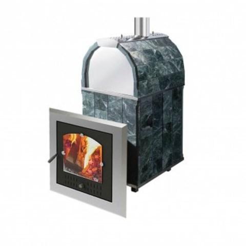 Печь Калита М арочная (Дверка - Нержавеющая сталь, облицовка талькохлорит)