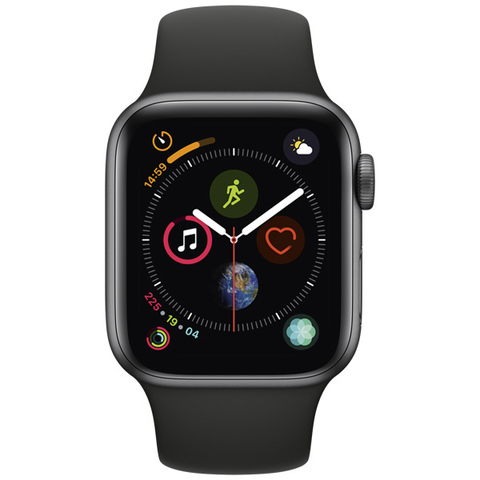 Watch S4 Cellular 44mm Space Grey Al/Black Sport Band