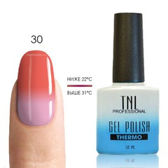 TNL, Термо гель-лак № 30 - персиково-розовый/молочно-розовый, 10 мл