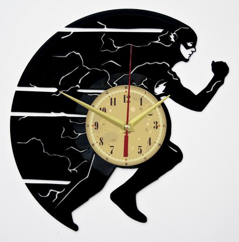 Флэш Часы из Пластинки — Молния