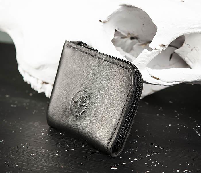 WB183-1 Удобный мини кошелек на молнии ручной работы фото 02