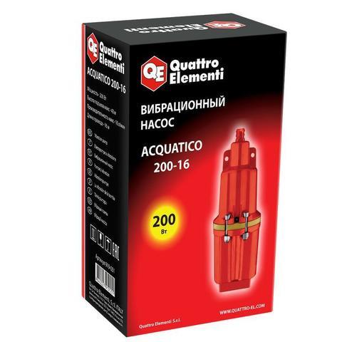 Вибрационный насос QUATTRO ELEMENTI Acquatico 200-16 (200 Вт, 960 л/ч, для чистой, 40м, ка (919-051)