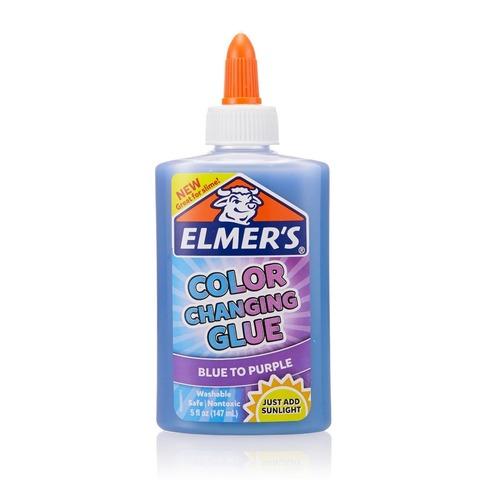 Клей для слайма Elmer's Color Changing Glue голубой-фиолет 147 мл