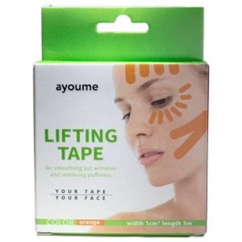 Ayoume Kinesiology Tape Roll Кинезио тейп для лица (оранжевый) 1см х 5м