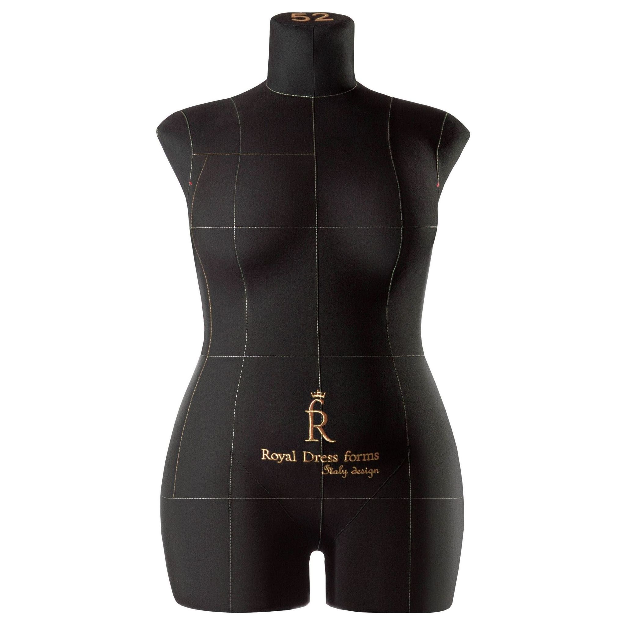 Манекен портновский Моника, комплект Стандарт, размер 52, цвет чёрный, в комплекте подставка