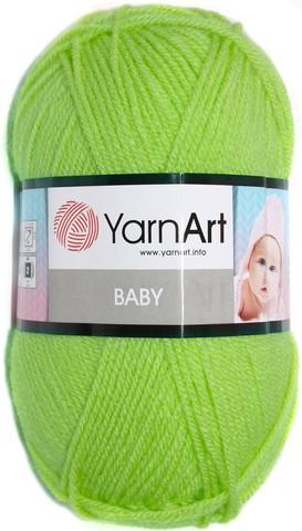 Пряжа YARNART BABY № 13854 салатовый