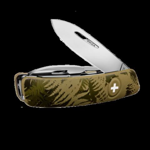 Швейцарский нож SWIZA C03 Camouflage, 95 мм, 11 функций, хаки