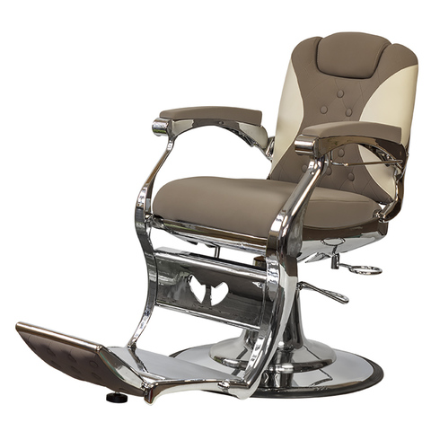 Барбер кресло МД-8772 гидравлика хром, круг хром