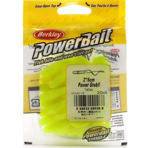 Приманка силиконовая Berkley Powerbait Power Grub MPG2-YE Yellow 2