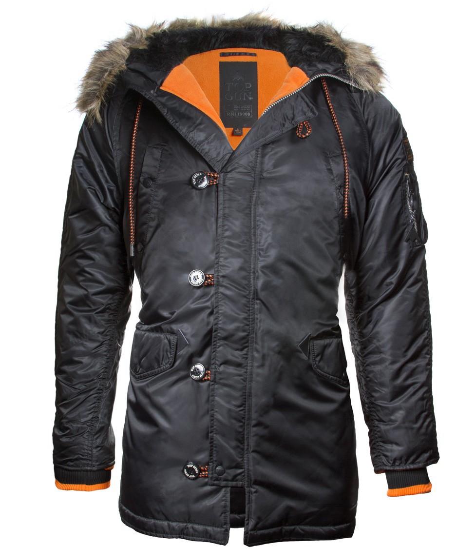 Куртка Аляска - Slim Fit N-3B Top Gun (черная - black)
