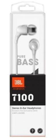 Наушники  JBL T100,  вкладыши канальные, белые