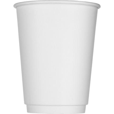 Стакан одноразовый Стандарт бумажный белый 300 мл 25 штук в упаковке