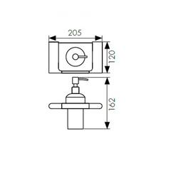 Дозатор для жидкого мыла настенный Kaiser Franco BL KH-2730 схема