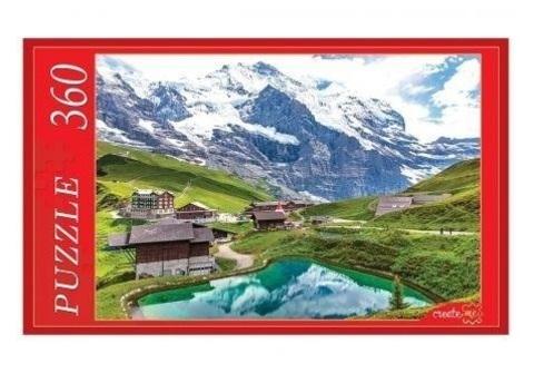 ПАЗЛЫ - Кристальное озеро в горах - 360 элементов.