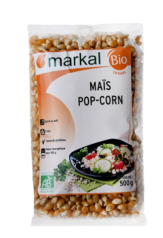 MARKAL, Зерна кукурузы для попкорна 500гр