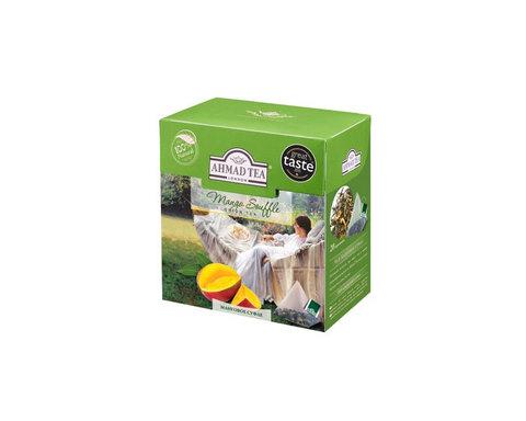 Чай зеленый в пирамидках Ahmad Tea Манговое суфле, 20 пак/уп
