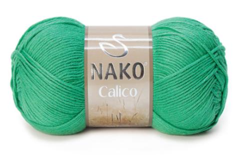 Пряжа Nako Calico изумруд 11219