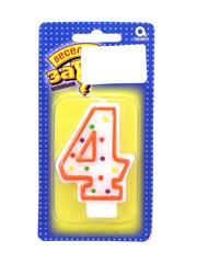 Веселая затея свеча-цифра 4