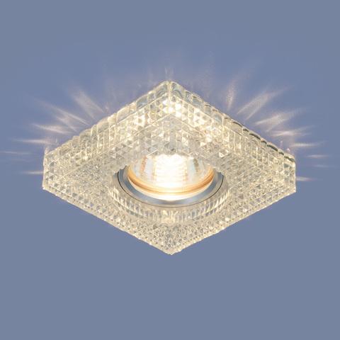 Встраиваемый точечный светильник с LED подсветкой 2214 MR16 CL прозрачный