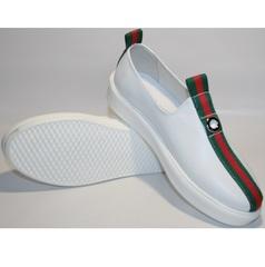 Кожаные кроссовки женские New Malange M970 white.