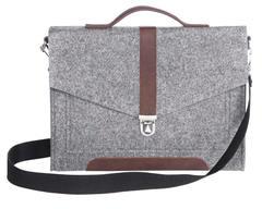 Серый войлочный портфель Gmakin для Macbook Air/Pro 13,3 с экокожей